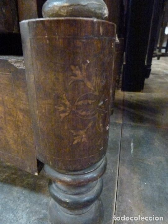 Antigüedades: COMODA ISABELINA DE NOGAL CON INCUSTRACIONES DE BOIX SIGLO XIX - Foto 15 - 209417430