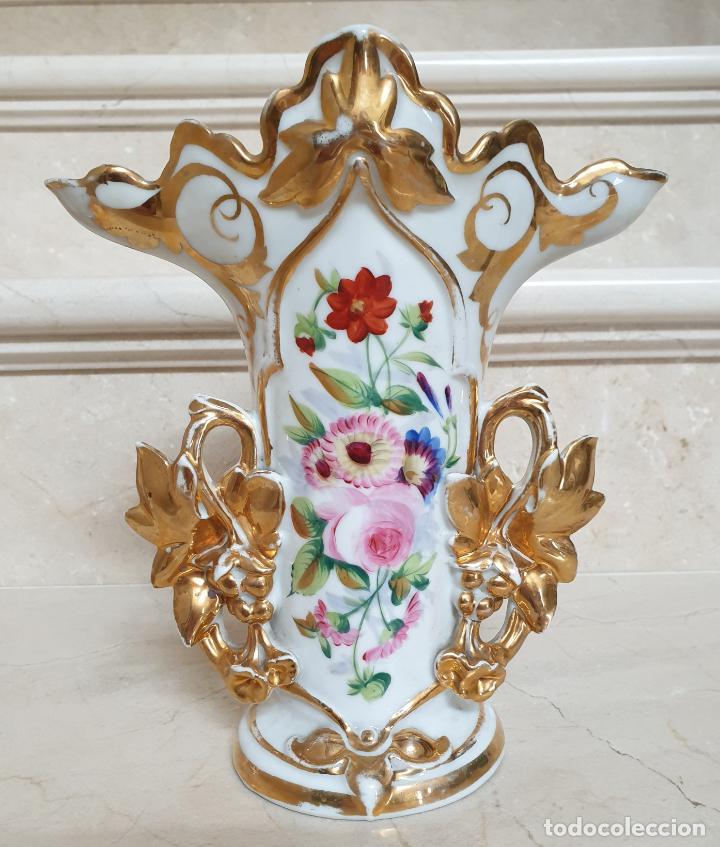 Antigüedades: MARAVILLOSA PAREJA DE JARRONES EN PORCELANA DE VIEJO PARIS,S. XIX - Foto 5 - 209560703