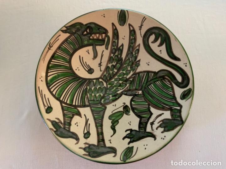 PLATO DOMINGO PUNTER (Antigüedades - Porcelanas y Cerámicas - Teruel)