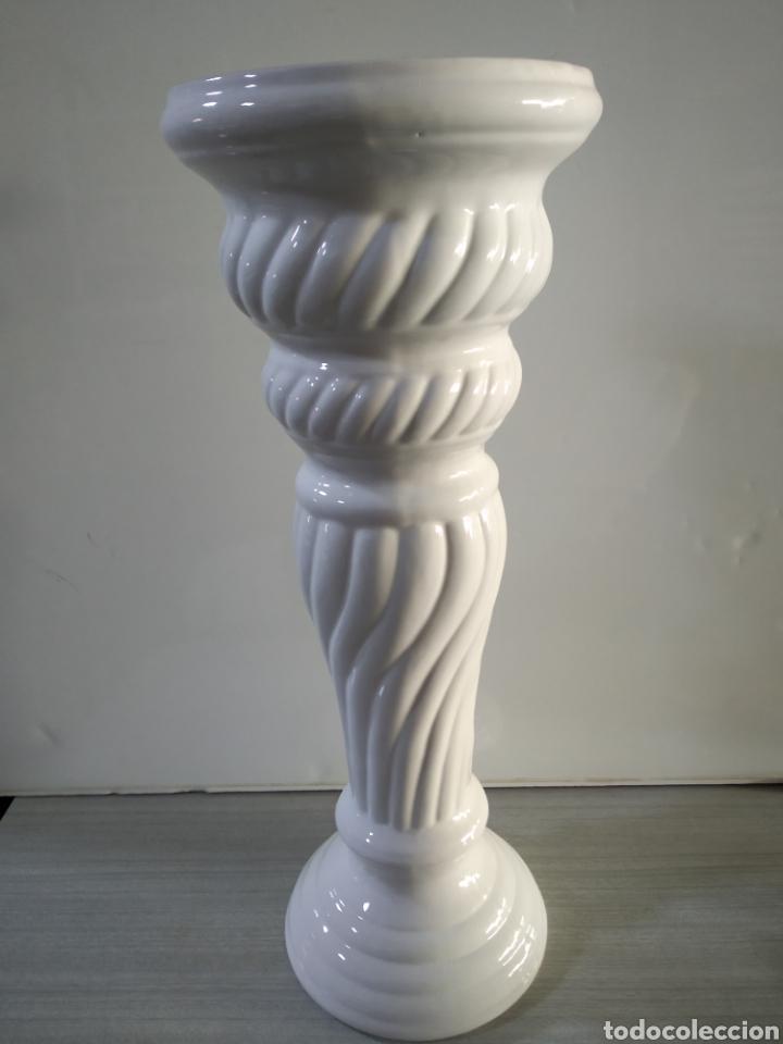 Antigüedades: Pie de cerámica para maceta o similar - Foto 8 - 209574351