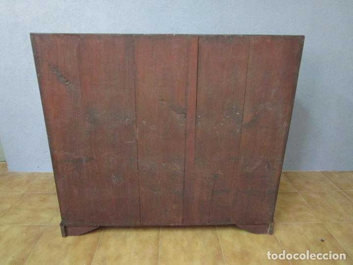 Antigüedades: Antiguo Escritorio Menorquín - Canterano, Estilo Regencia - Madera de Cerezo - Principios S. XIX - Foto 21 - 209582303