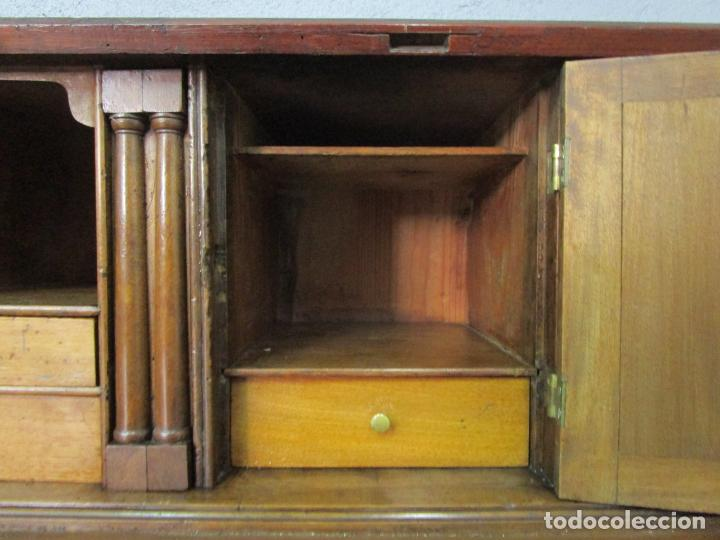 Antigüedades: Antiguo Escritorio Menorquín - Canterano, Estilo Regencia - Madera de Cerezo - Principios S. XIX - Foto 37 - 209582303