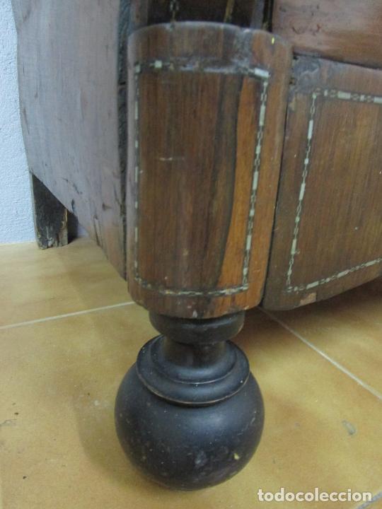 Antigüedades: Cómoda Isabelina - Madera Jacarandá - Marquetería en Zinc - Mármol - S. XIX - Foto 3 - 247818660