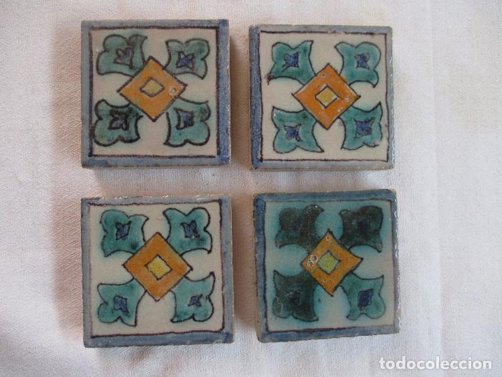 AZULEJOS OLAMBRILLAS PINTADAS MONTALVAN (TRIANA)L (Antigüedades - Porcelanas y Cerámicas - Azulejos)