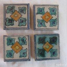 Antigüedades: AZULEJOS OLAMBRILLAS PINTADAS MONTALVAN (TRIANA)L. Lote 209632588