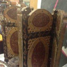 Antigüedades: BIOMBO DE MESA .. MADERA TALLADA Y POLICROMADA. . SIGLO XVII..4 HOJAS. . PIEZA RARA Y MUY ANTIGUA.. Lote 209644433