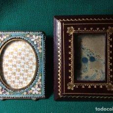 Antigüedades: ANTIGUOS PORTA RETRATOS UNO DE MICRO MOSAICO. Lote 209652598