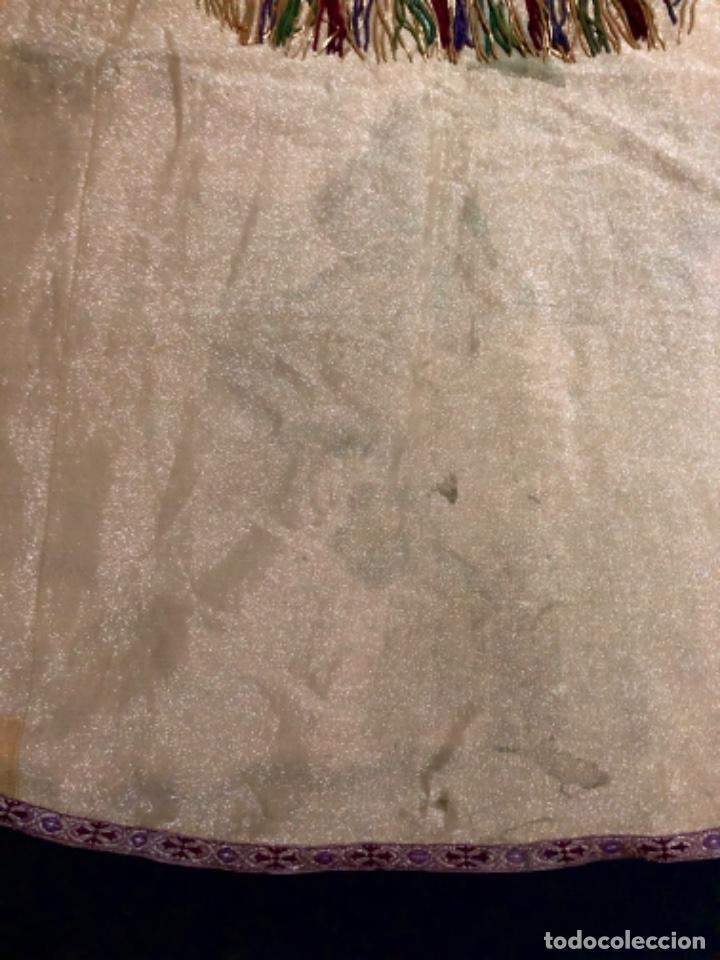 Antigüedades: Capa pluvial tisú de oro francesa bordada en oro - Foto 3 - 209671141