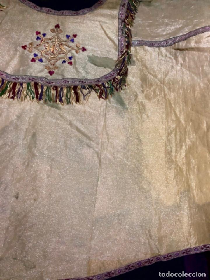 Antigüedades: Capa pluvial tisú de oro francesa bordada en oro - Foto 5 - 209671141