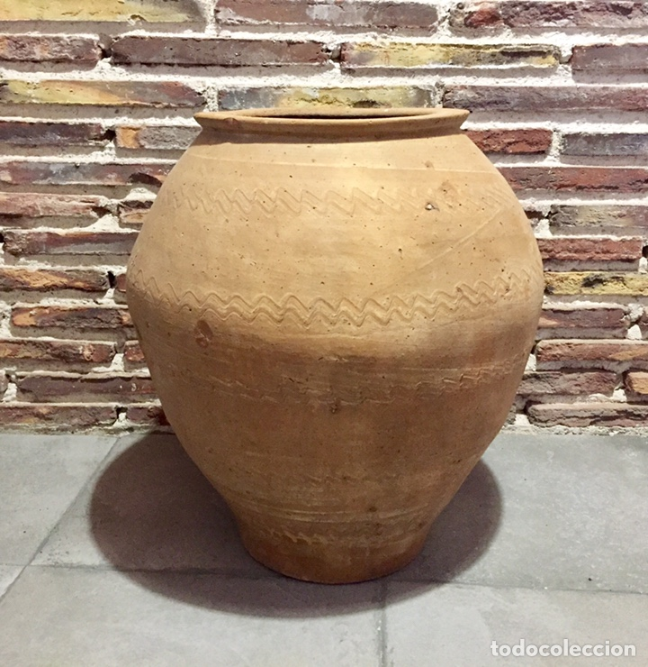 TINAJA ARAGONESA, POSIBLEMENTE ZONA DE LA COMARCA DE GUDAR. (Antigüedades - Porcelanas y Cerámicas - Teruel)