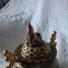 Oggetti Antichi: QUEMADOR DE PORCELANA SATSUMA STYLE MADE IN CHINA. Lote 209685170