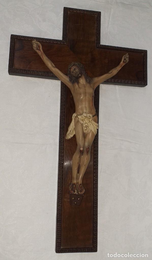 ANTIGUO CRUCIFIJO PRIMERA MITAD SIGLO XX (Antigüedades - Religiosas - Crucifijos Antiguos)