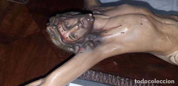 Antigüedades: ANTIGUO CRUCIFIJO PRIMERA MITAD SIGLO XX - Foto 4 - 209691247