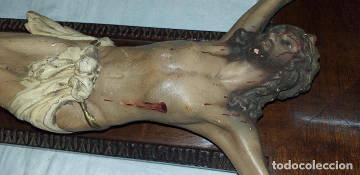 Antigüedades: ANTIGUO CRUCIFIJO PRIMERA MITAD SIGLO XX - Foto 5 - 209691247