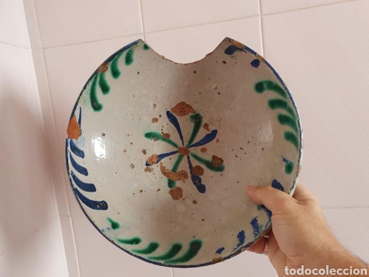 Antigüedades: ANTIGUO PLATO CERÁMICA DE FAJALAUZA - Foto 5 - 209693557