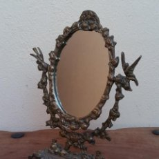 Antigüedades: ANTIGUO ESPEJO DE TOCADOR BASCULANTE DE BRONCE, PERFECTO ESTADO.. Lote 209708426