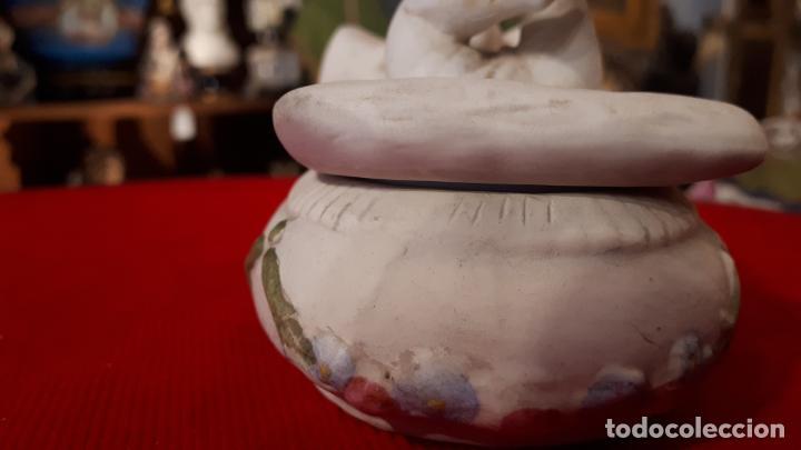 Antigüedades: CAJA INGLESA DE PORCELANA.S.XIX - Foto 3 - 209717007