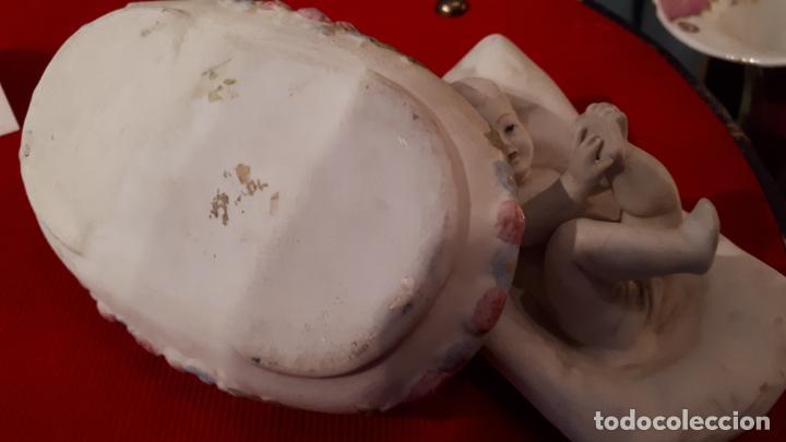 Antigüedades: CAJA INGLESA DE PORCELANA.S.XIX - Foto 6 - 209717007