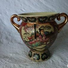 Antigüedades: JARRÓN,FLORERO, DE PORCELANA SATSUMA STYLE MADE IN CHINA. Lote 209722407