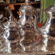 Antigüedades: JUEGO DE CAFÉ DE ALPACA.. Lote 209751001