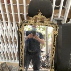 Antigüedades: ESPEJO METAL ANTIGUO MIDE 80X40 CM - VER FOTOS. Lote 209768430