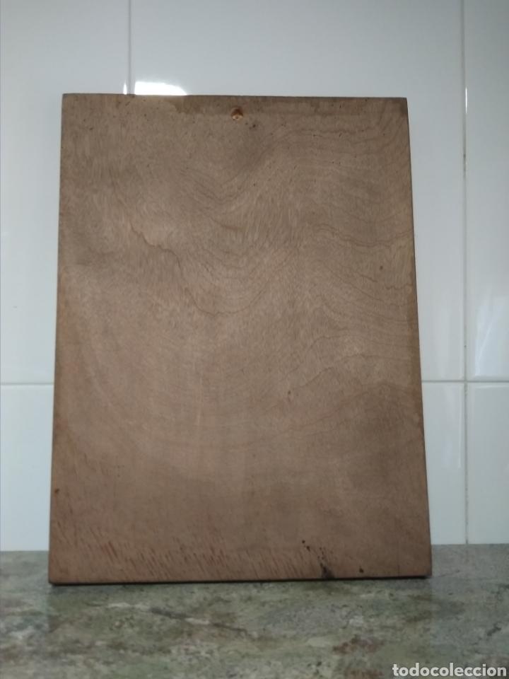Antigüedades: Cuadro madera muy original. Comprado en el siglo XX. Reproducción de las Meninas. - Foto 5 - 209768955