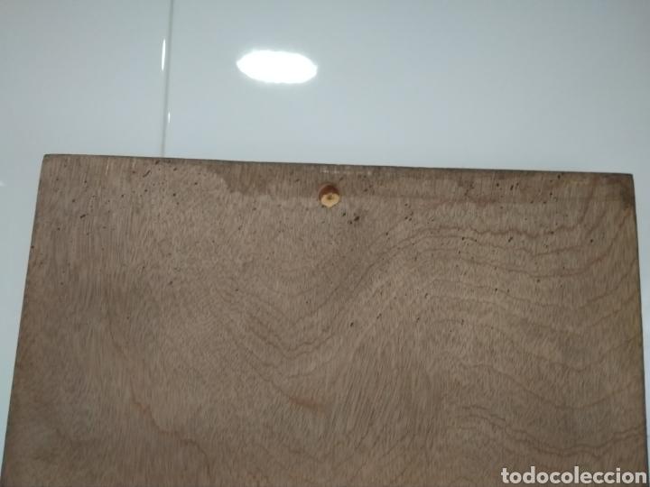 Antigüedades: Cuadro madera muy original. Comprado en el siglo XX. Reproducción de las Meninas. - Foto 6 - 209768955