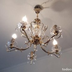 Antigüedades: LAMPARA ARAÑA ANTIGUA 1987 ORO VIEJO FUNCIONANDO COMPLETA (MADRID). Lote 209774372