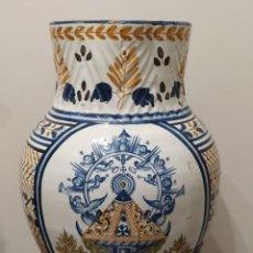 Antigüedades: GRANDIOSA JARRA DE TALAVERA 1890. VIRGEN DEL PRADO.. Lote 209804050