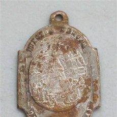 Antigüedades: ANTIGUA MEDALLA RELIGIOSA. SAN BENITO FUNDADOR Y NUESTRA SEÑORA DE MONTSERRAT (SIGLO XIX). Lote 209853665