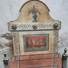 Antigüedades: DOS CAMAS PINTADAS COLCHÓN DE 190X90. Lote 209865160