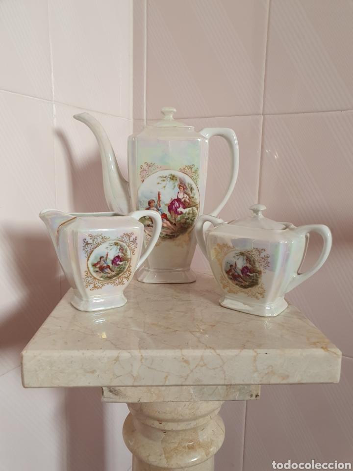 PRECIOSO JUEGO DE CAFE REALIZADO EN PORCELANA DE LA MARCA BAVARIA GERMANY (Antigüedades - Porcelana y Cerámica - Alemana - Meissen)