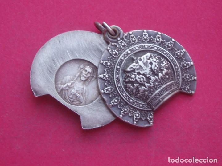 Antigüedades: Preciosa Medalla Antigua Corona Virgen de Covadonga. Asturias. - Foto 4 - 209877426