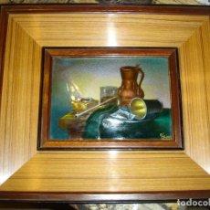 Antigüedades: MUY BONITO ESMALTE DE LIMOGES EPOCA 19201940 EN PERFECTO ESTADO VER FOTOS FIRMADO. Lote 209888055