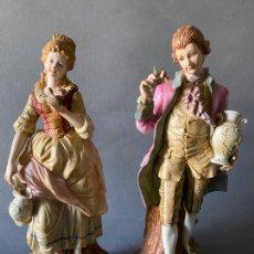 Antigüedades: PAREJA DE PORCELANAS DE JAPÓN , SELLADAS KK , 38 CM.. Lote 209907301