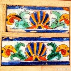 Antigüedades: AZULEJOS DE TRIANA DE FINALES DEL SIGLO XVI, CIRCULO DE NICULOSO PISANO.. Lote 209917008
