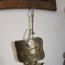 Antigüedades: CANDIL DE LATÓN DE 4 MECHAS. Lote 209923996
