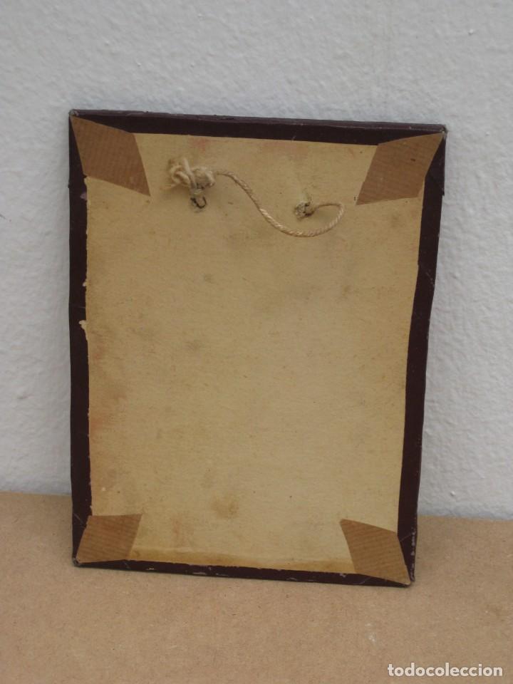 Antigüedades: Cuadro con foto en blanco y negro antigua. 19x14. - Foto 5 - 209926631