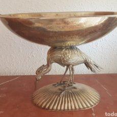 Antiquités: IMPRESIONANTE FRUTERO DE DOBLE GARZA DE ALPACA. Lote 219038238