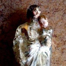 Antigüedades: CRISTAL AL MERCURIO REPRESENTANDO A SAN JOSÉ. SIGLO XVIII. Lote 209953295