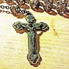 Antigüedades: ROSARIO ROMANO DE CRISTAL. Lote 209992973