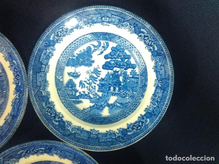 Antigüedades: TRES PLATOS HONDOS SAN JUAN DE AZNALFARACHE - Foto 3 - 210007498