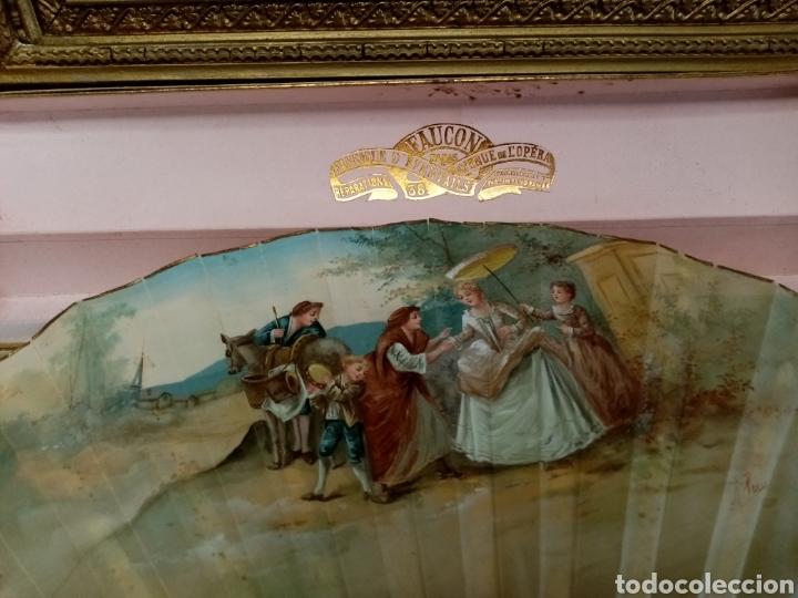 Antigüedades: Abanico pintado y firmado s.XIX varillaje en nacar y encaje. - Foto 12 - 139707260