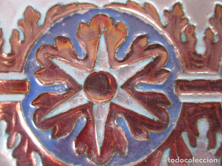 Antigüedades: Pareja de azulejos Reflejos Ramos Rejano - Foto 2 - 210016047