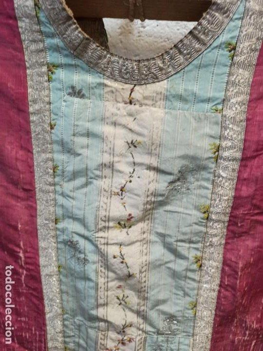 Antigüedades: Antigua casulla para festividades marianas. A1 - Foto 3 - 210030148