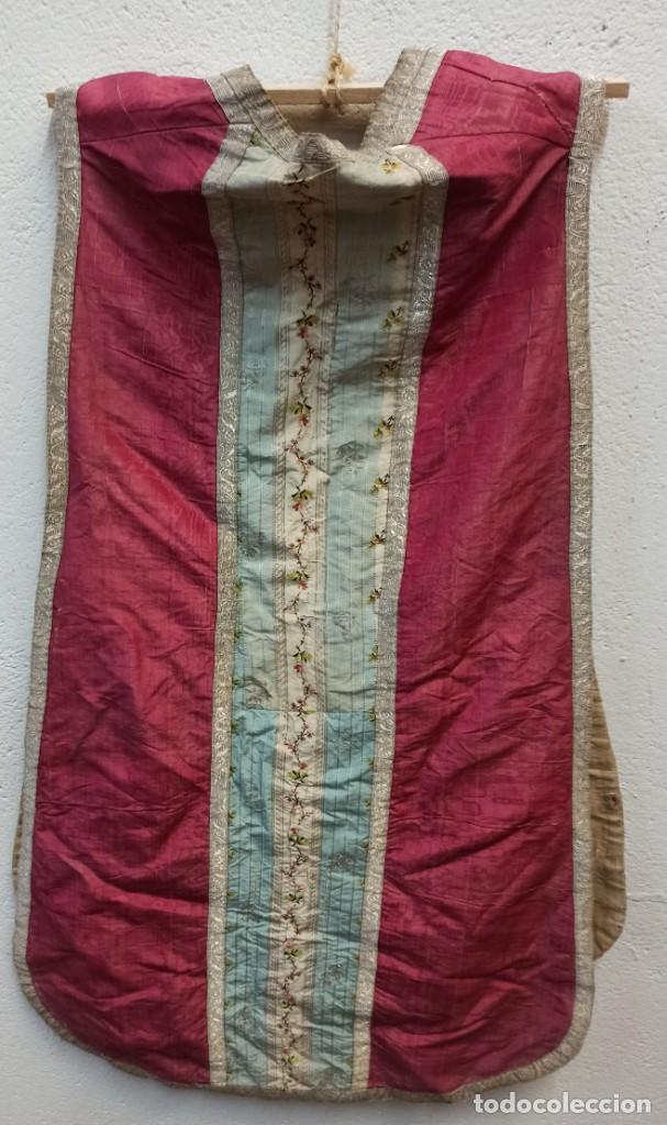 Antigüedades: Antigua casulla para festividades marianas. A1 - Foto 6 - 210030148