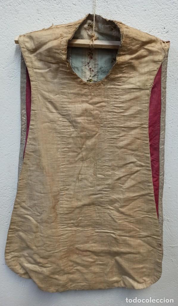 Antigüedades: Antigua casulla para festividades marianas. A1 - Foto 7 - 210030148
