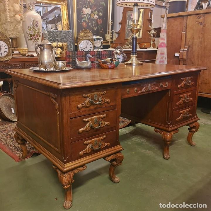 MESA DE DESPACHO ANTIGUA (Antigüedades - Muebles Antiguos - Mesas de Despacho Antiguos)