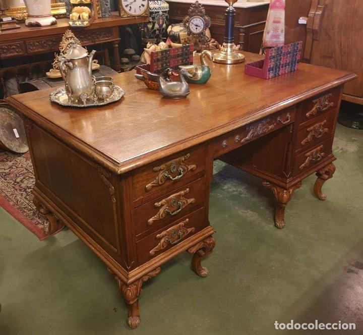 Antigüedades: Mesa de Despacho Antigua - Foto 3 - 210039238