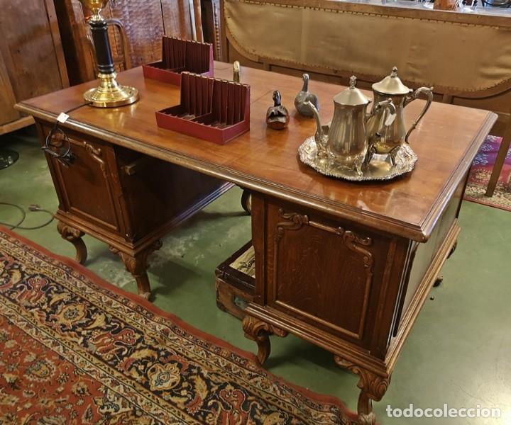 Antigüedades: Mesa de Despacho Antigua - Foto 4 - 210039238